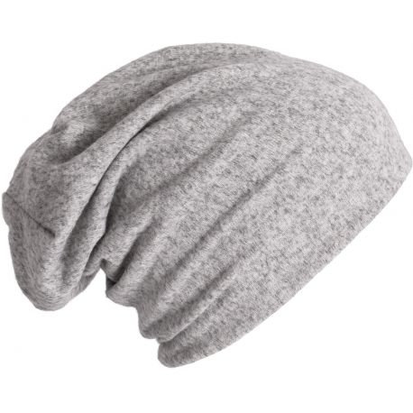 Long knitted beanie, in jersey mesh
