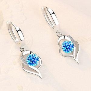 Sterling silver 925 earrings, heart