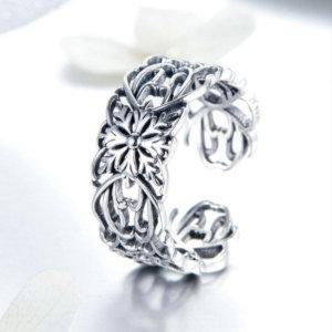 Adjustable ring in sterling silver 925, vintage