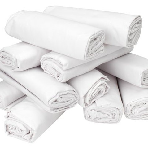 White bed sheet 100% cotton, 135 x 240 cm