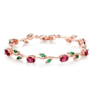 Leaves and roses bracelet