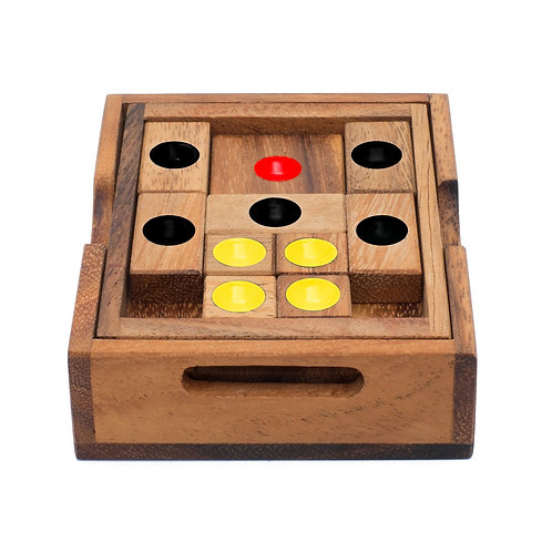 Wooden puzzle - setting sun
