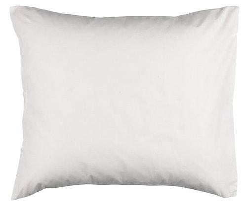 2 white pillowcases in swansdown (60 x 63 cm)