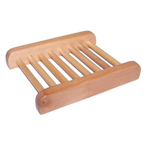 Porte-savon en bois d'hému -échelle