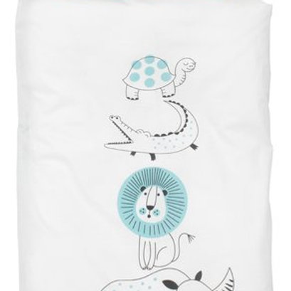 KRONBORG - Printed quilt cover set for babies (100 x 140 cm)