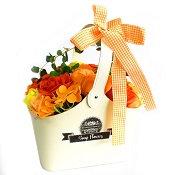 Basket soap flowers