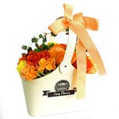 Panier de fleurs en savon