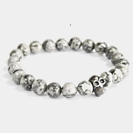 Natural stone bracelet - Grey agate