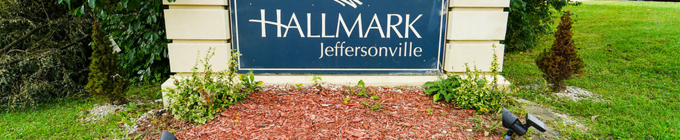 Hallmark at Jeffersonville Welcome Sign
