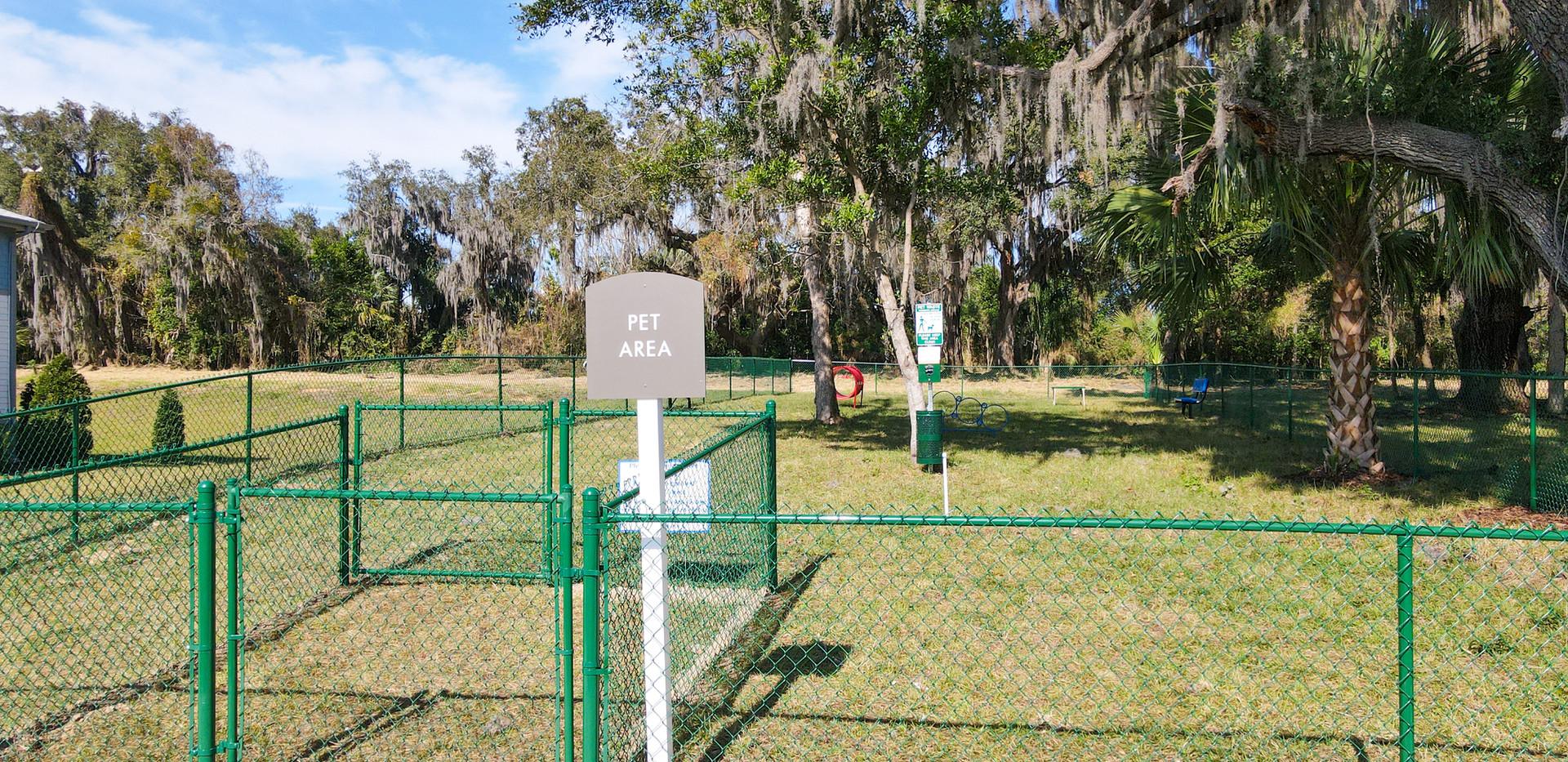 On-site dog park