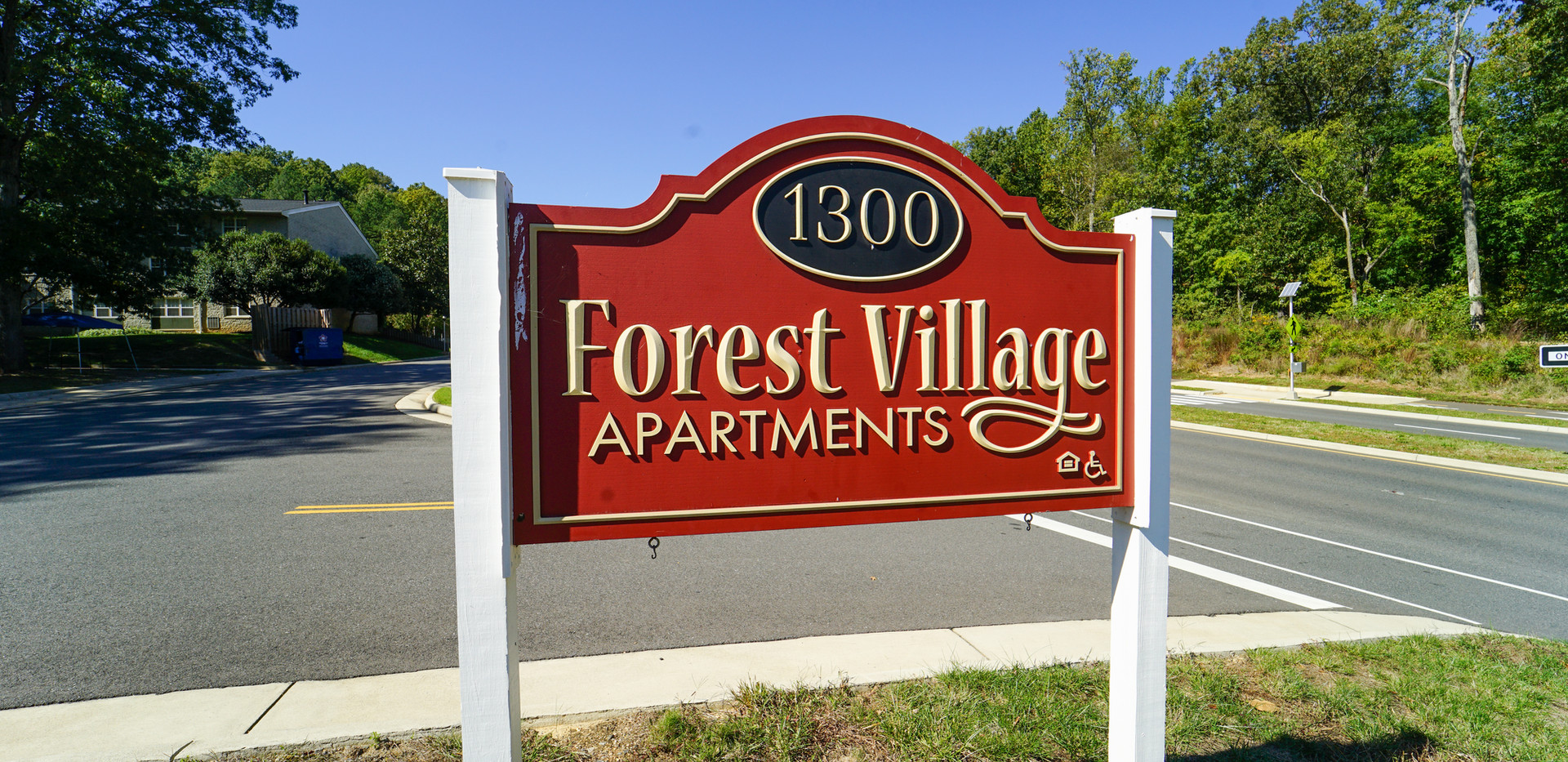 Forest Village Welcome Sign