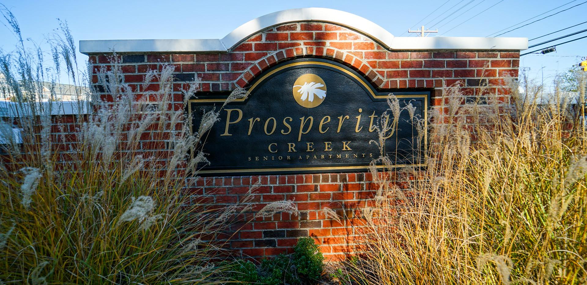 Prosperity Creek Welcome Sign