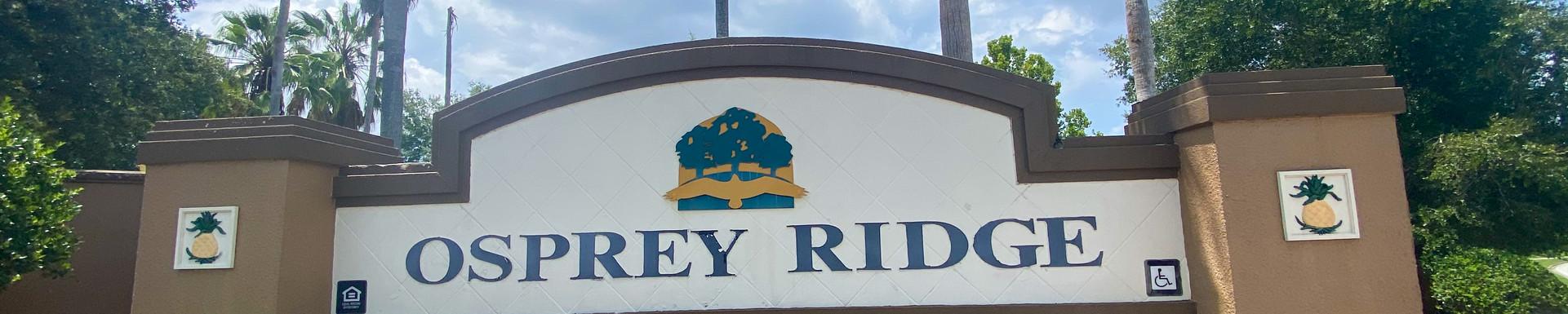 Osprey Ridge Monument Sign