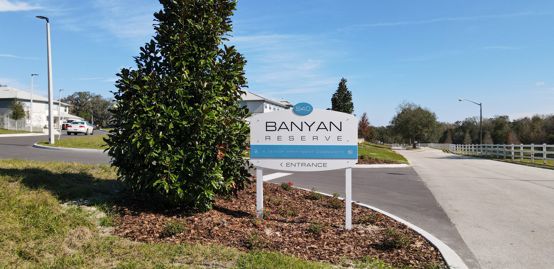 Banyan Reserve welcome sign