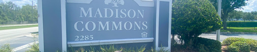 Madison Commons Welcome Sign