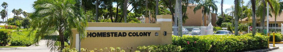 Homestead Colony Welcome Sign