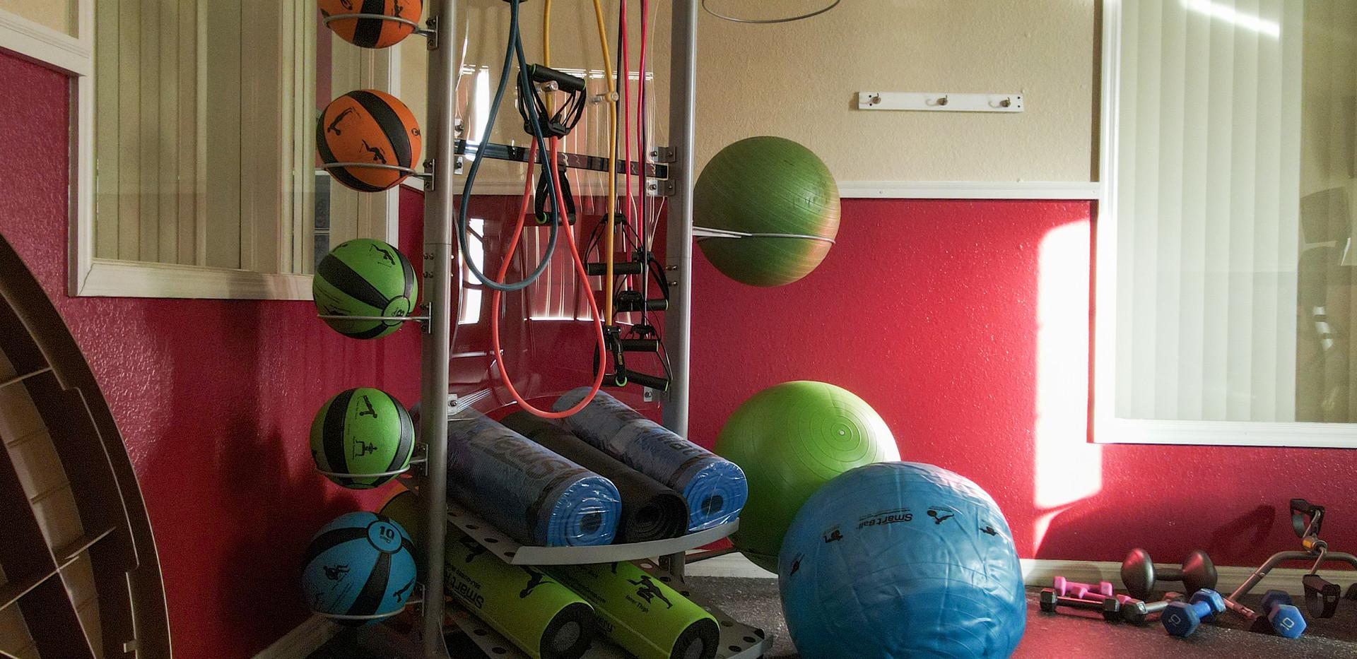 Fitness Center Exercise Balls