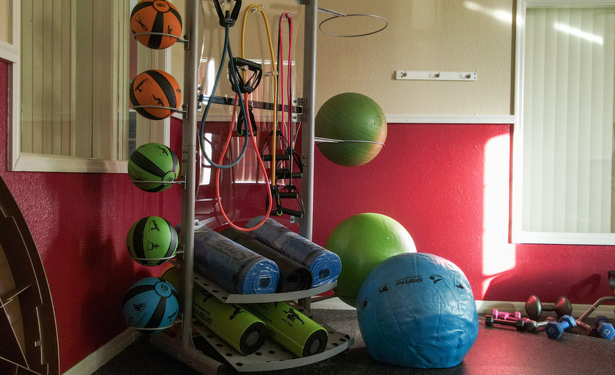 Fitness Center Exercise Balls