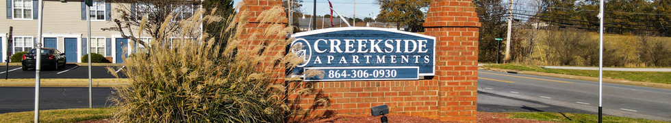 Creekside Welcome Sign