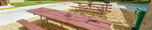 Outside Park Benches