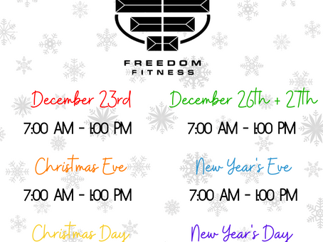 The Holidays at Freedom Fitness