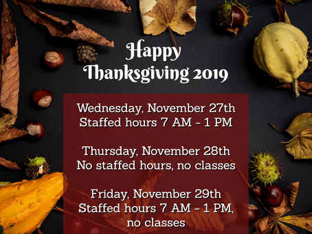 Thanksgiving at Freedom Fitness