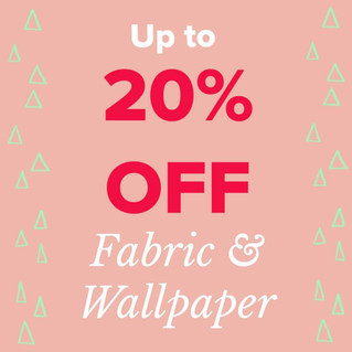 Summer Sale on Fabrics and Wallpapers!