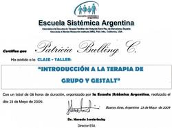 CERTIFICADO GESTAL ESA.ARGENTINA
