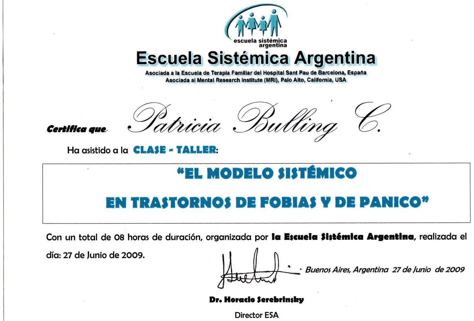 TRASTORNOS DE PANICO ESA ARGENTINA