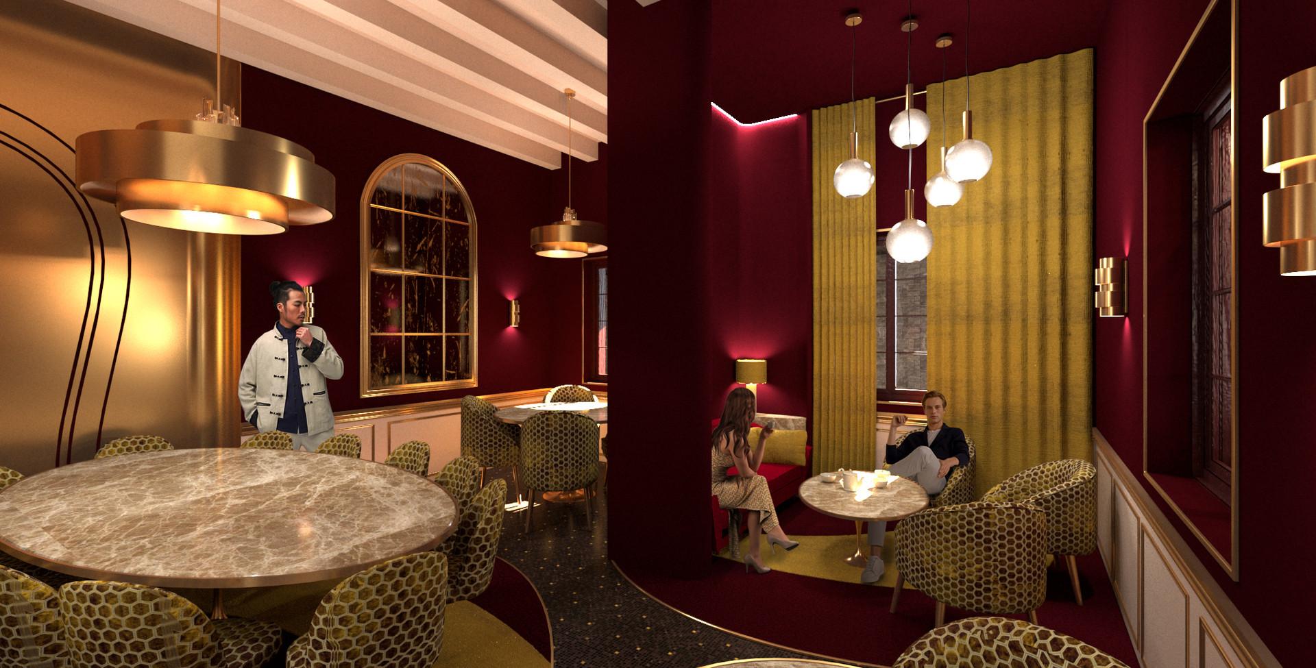 Projet boudoir salle de restaurant