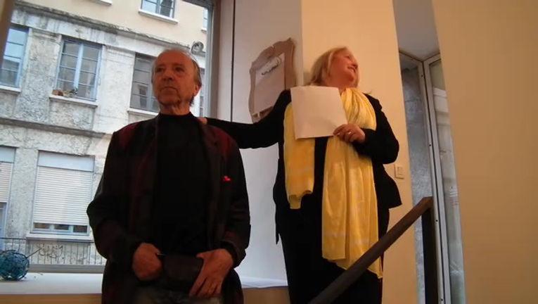 Inauguration galerie Besson Lyon A vol d'oiseau du cercle Philippe Delaunay