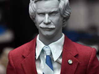 1/6 Ron Burgundy printed head