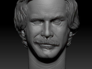 1/6 Ron Burgundy 3D sculpt