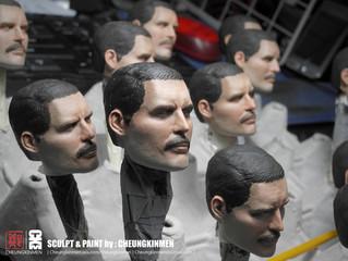 Head sculpts paint work