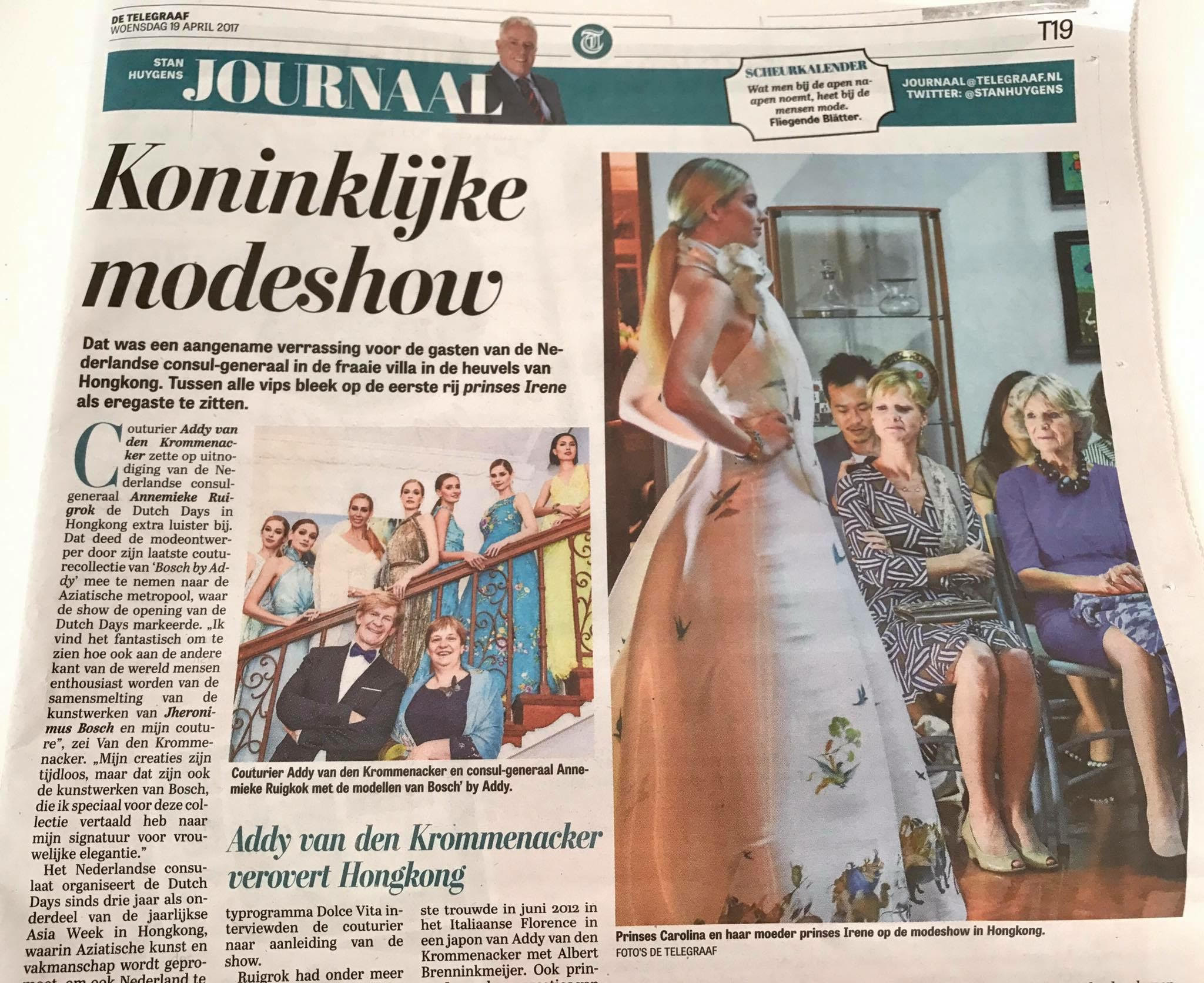 Publication De Telegraaf (19 april 2