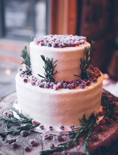 Winter Berry Wedding Cake
