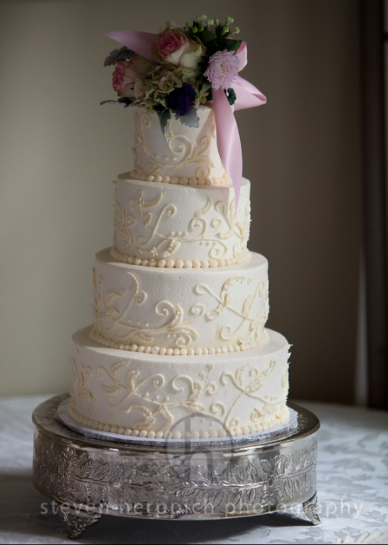 Four Tier Cake in White