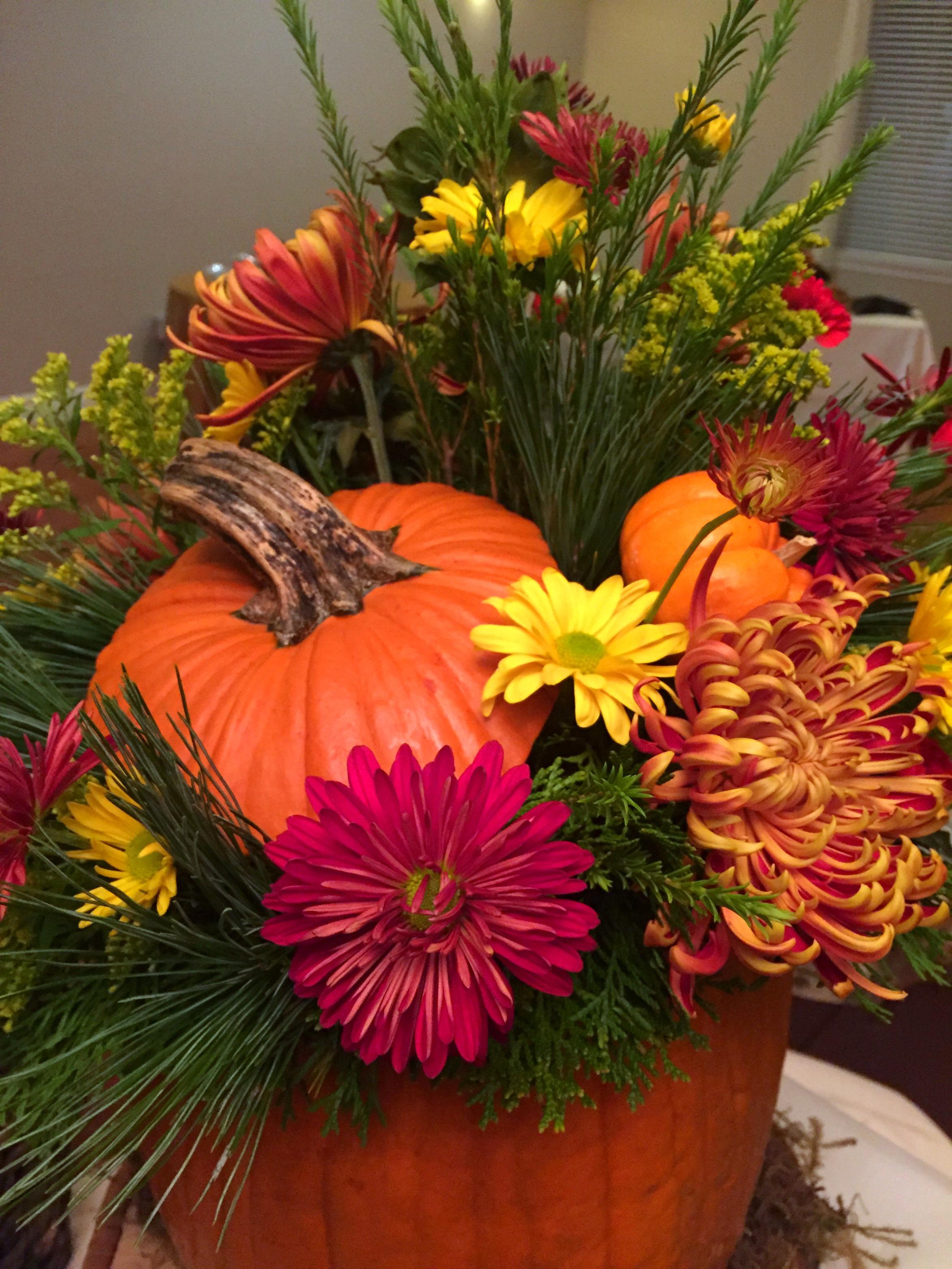 Pumpkin Centerpiece Up Close