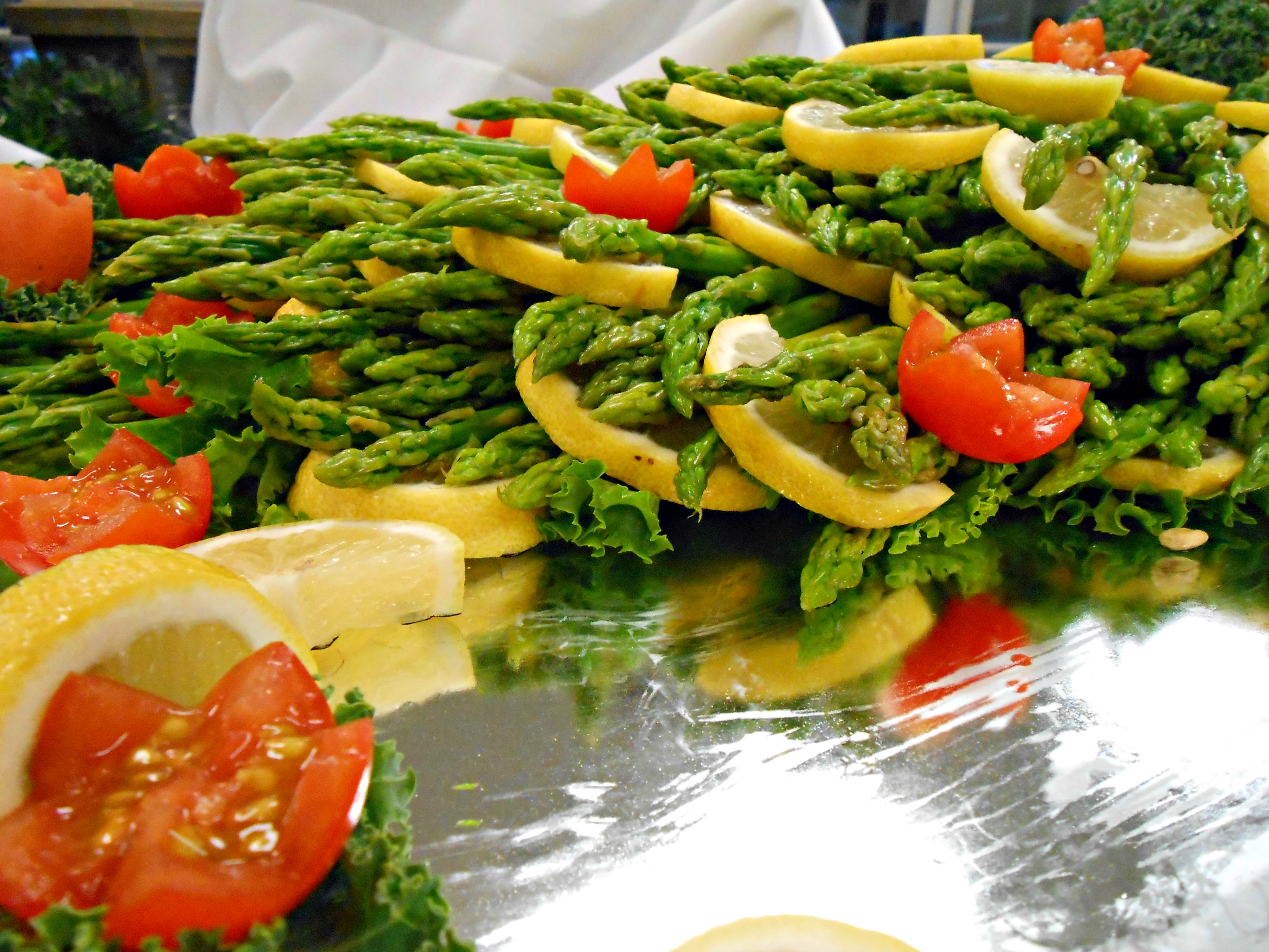Blanched Asparagus with Almond Dip