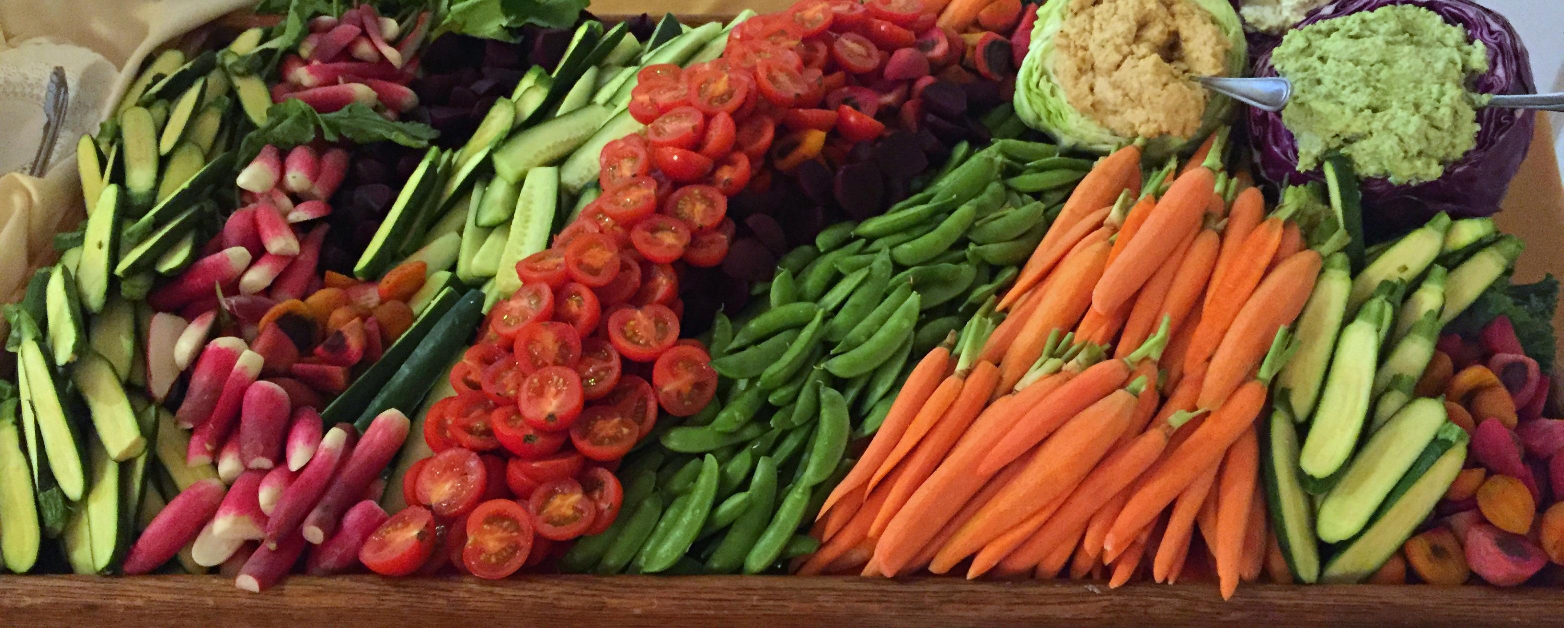 Vegan Ultimate Vegetable Display