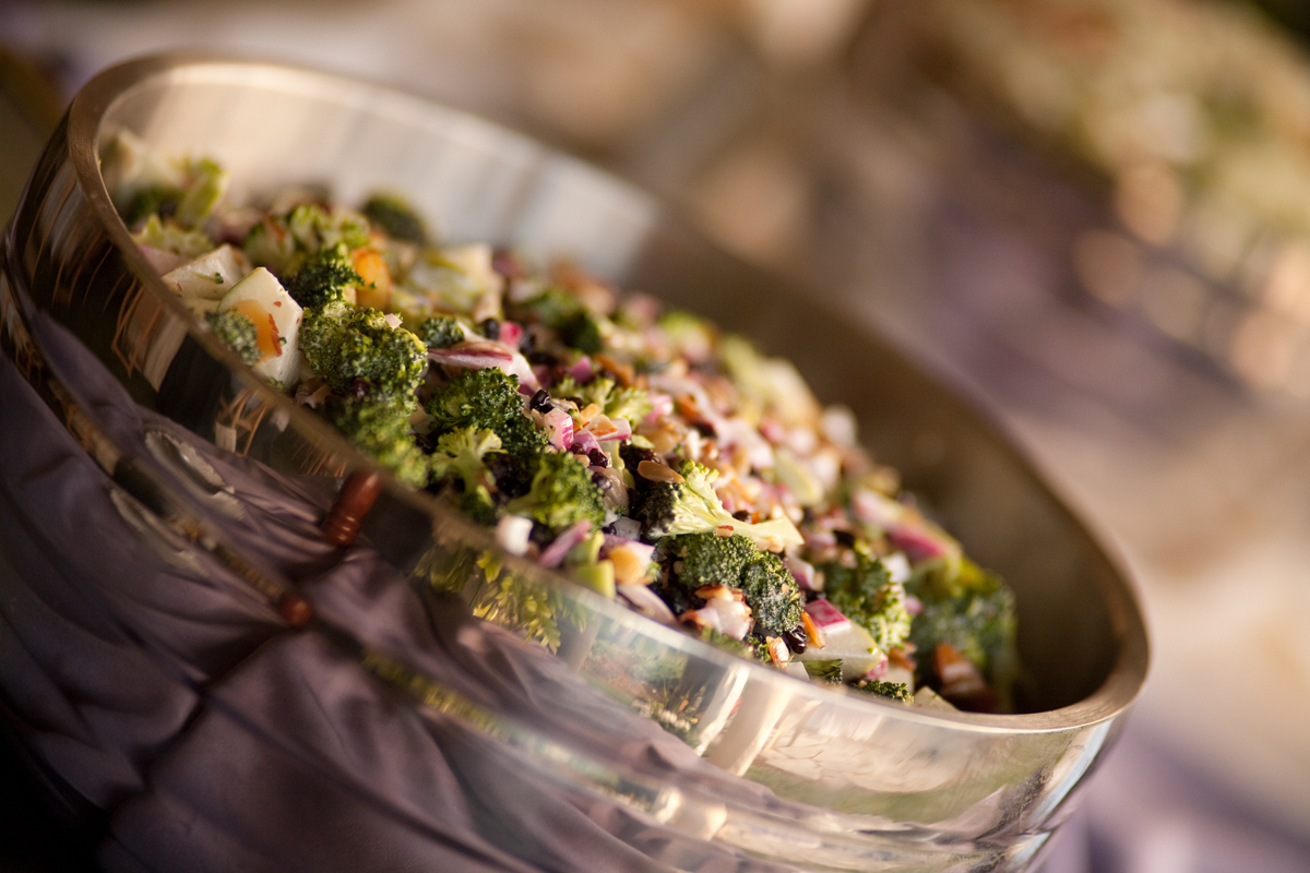 Broccoli Apple Currant Salad