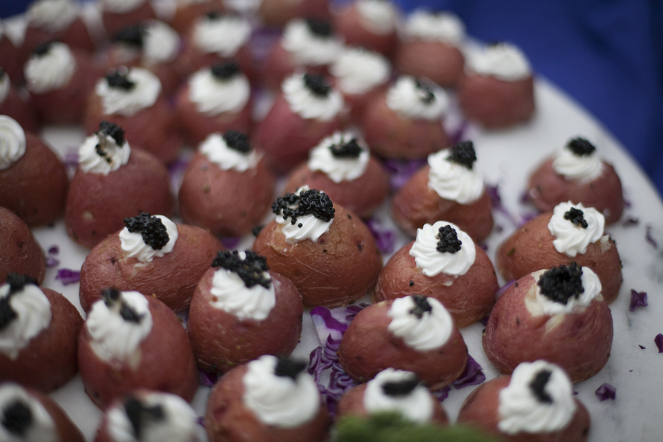 Caviar Potatoes