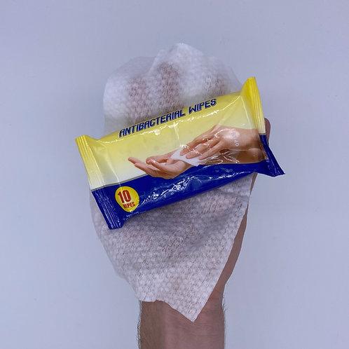 AntiBacterial Wipes, 20- 10 packs (200 wipes)