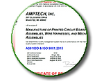 Amptech's AS9100D ISO9001 Cert.