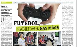 Futebol, habilidade nas mãos