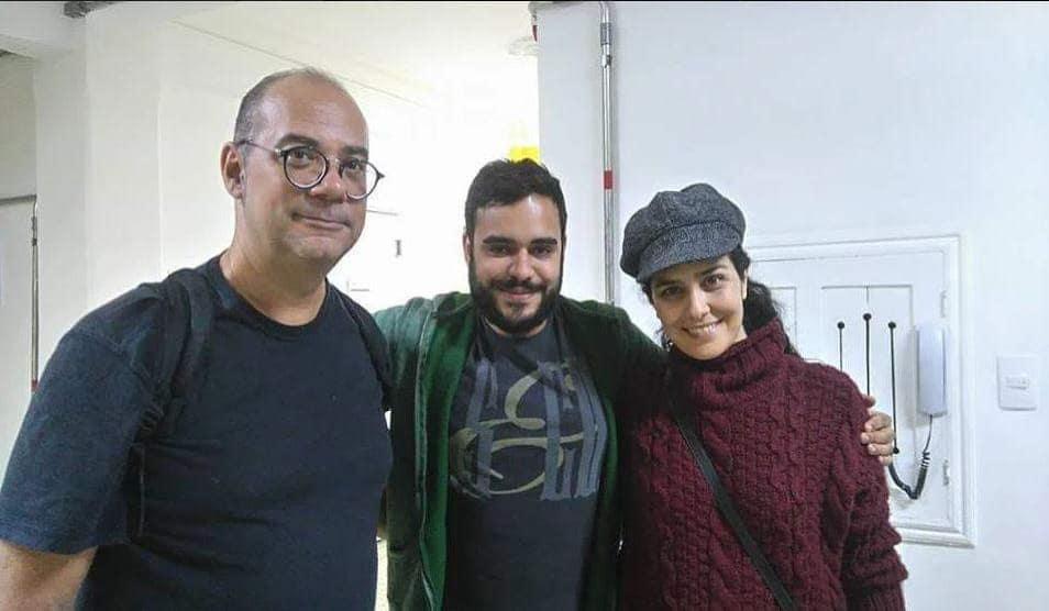 Com Paulo Braga e Letícia Sabatella