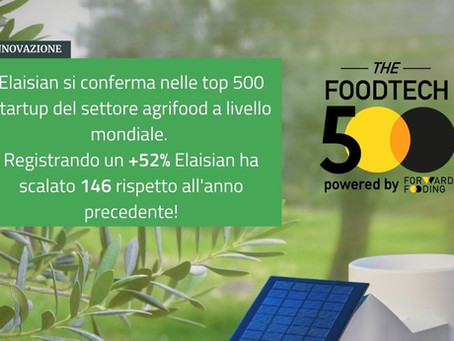 Elaisian fa il bis al 500 Foodtech startups