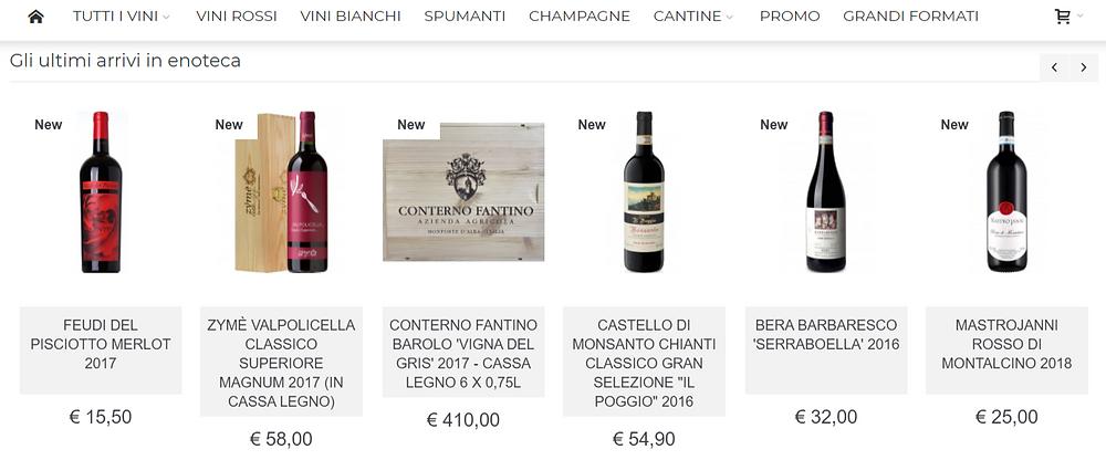 E-commerce di vino