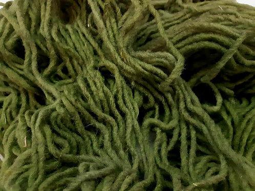 Estambre verde 100% lana