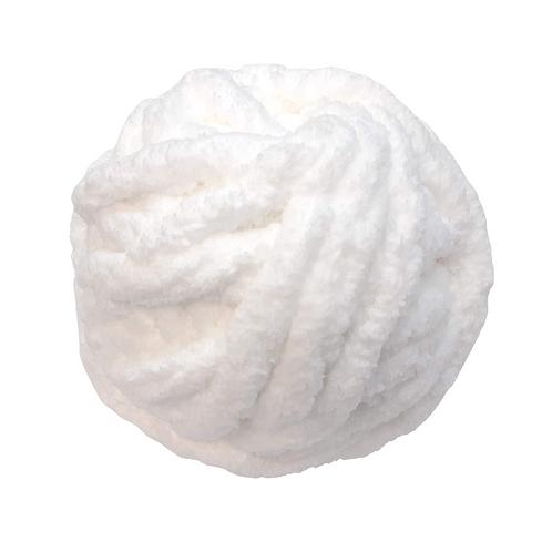 Madeja chenille blanco